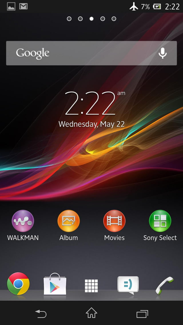 sony xperia zl review screens home screen