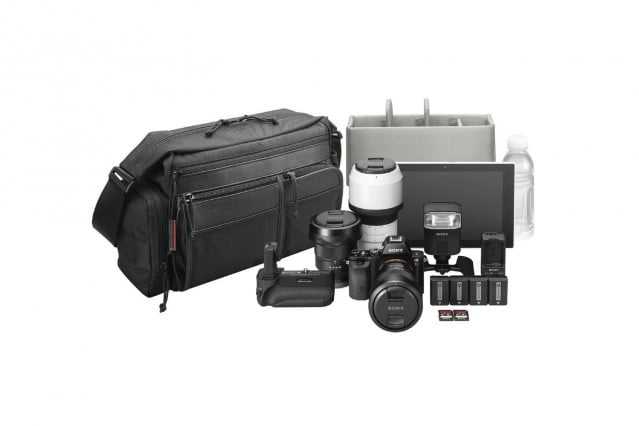 The LCS-PSC7 camera bag for Sony A7-series cameras and accessories.