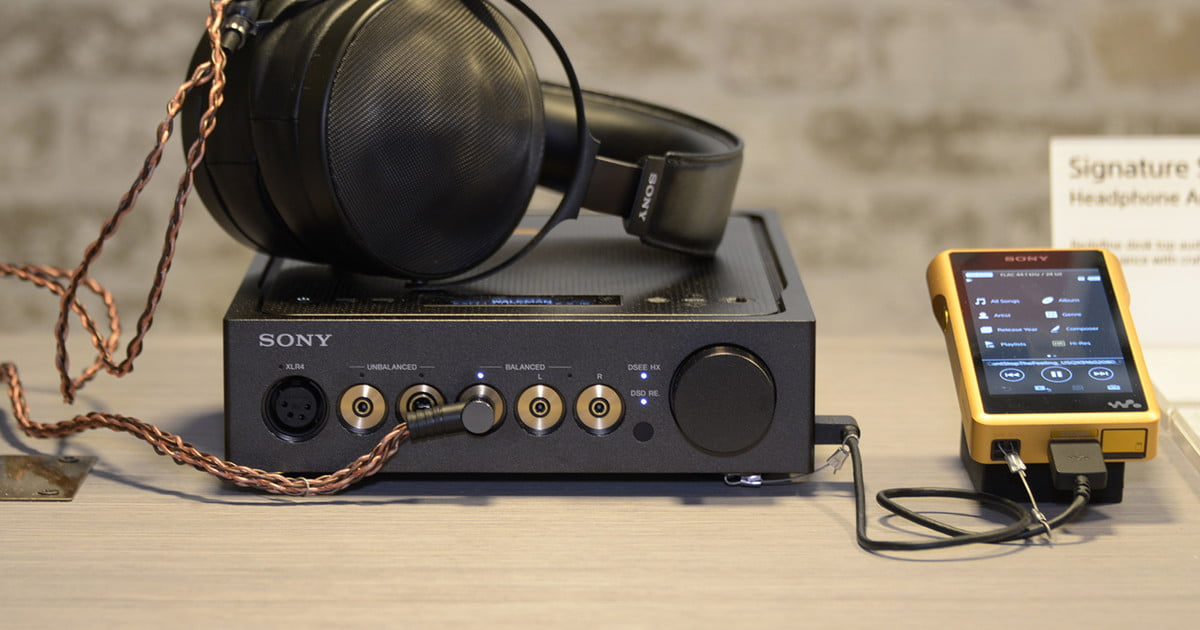 Sony's latest audiophile headphones, amplifier, and Walkman will make your ears weep