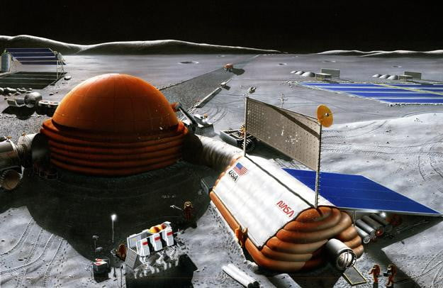 NASA Moon Base Rendition