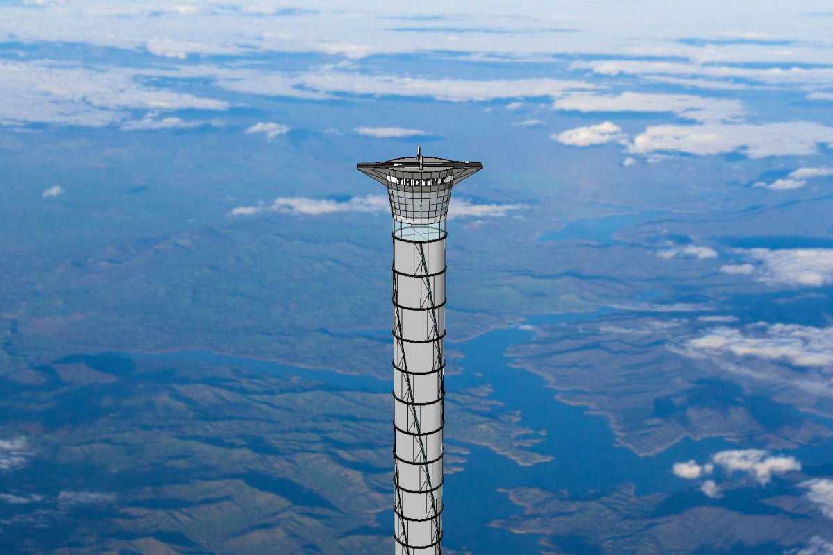 thoth inflatable space elevator