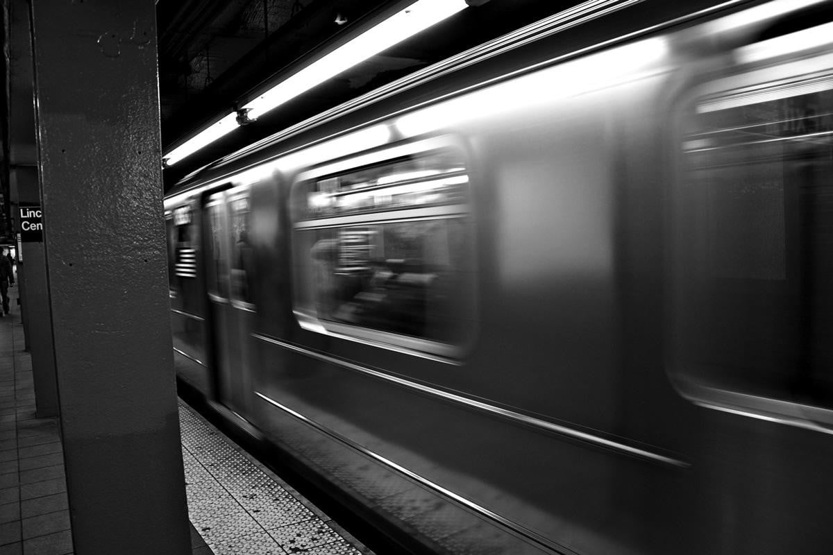 man jumps into subway for phone speeding