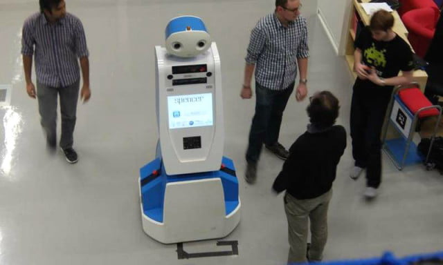 spencer the airport robot will help you catch your flight