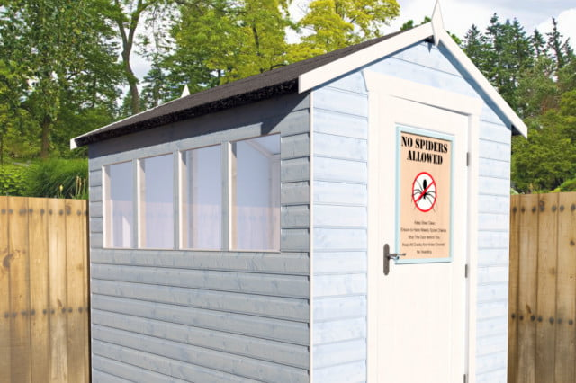 tiger sheds says its made a spider proof structure shed