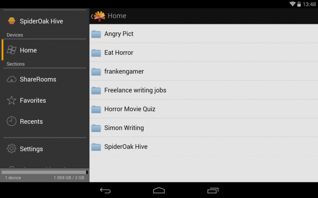 SpiderOak_Android_tablet_app_screenshot