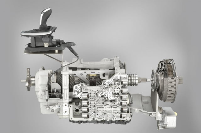 Sports automatic transmission with double clutch