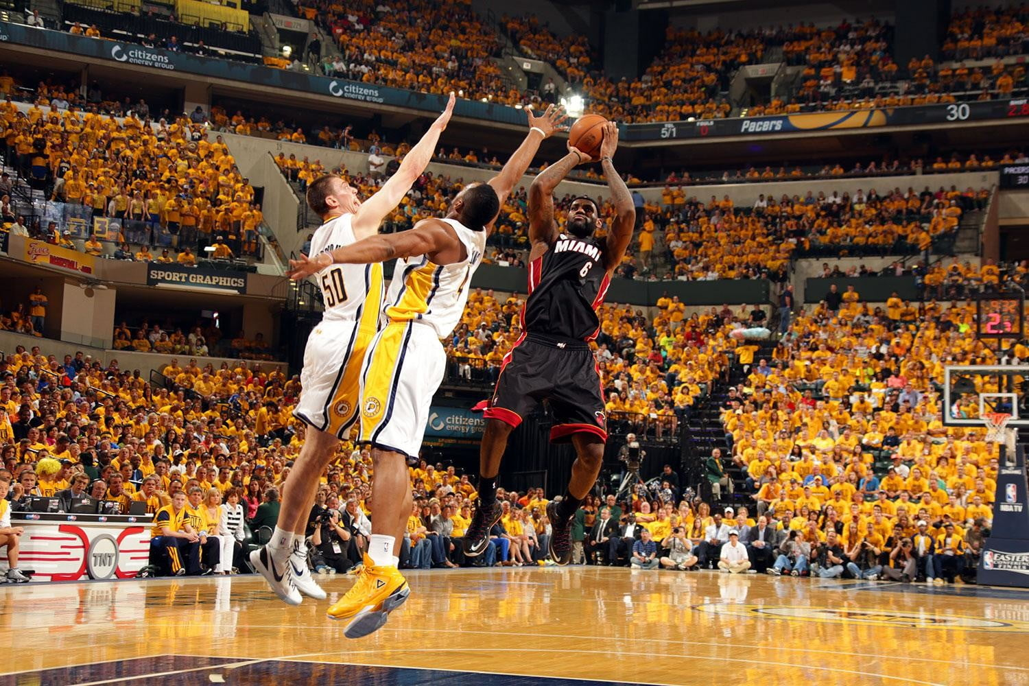 sportVu Lebron James Miami Heat and Indiana Pacers