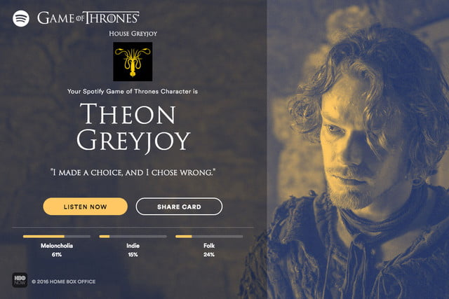 spotify launches new game of thrones feature