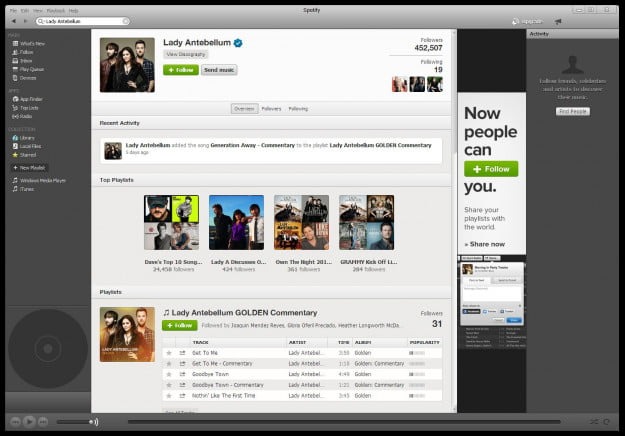Lady Antebellum Spotify Playlists