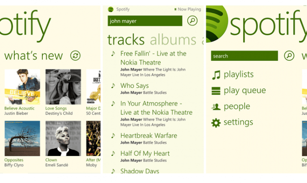 spotify windows 8 app