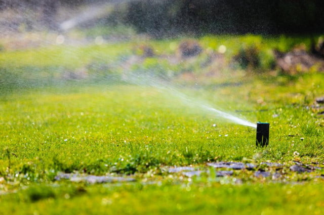 keep lawn looking lush hydros intelligent irrigation system sprinkler