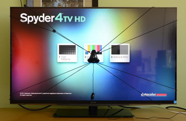 Spyder4TV HD review television calibration tool menu