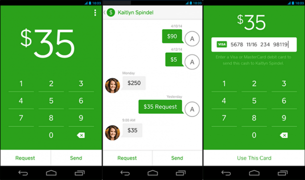 Square Cash App Screens