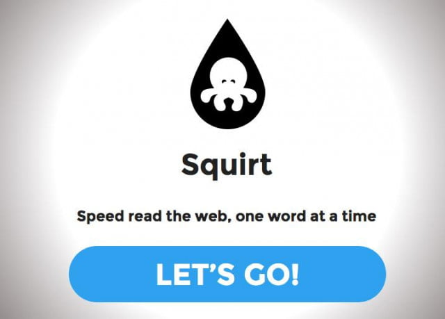 squirt bookmarklet lets read webpage  words per minute header