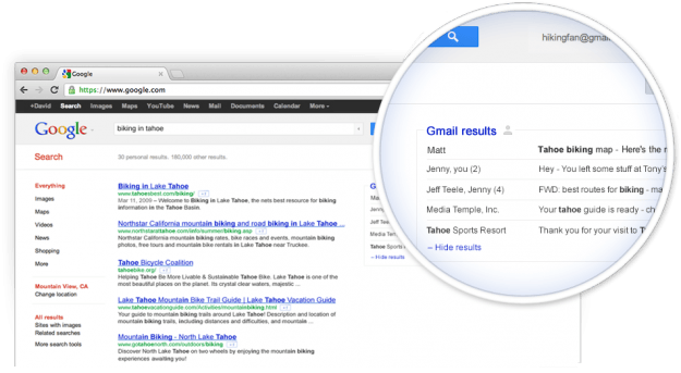 gmail and search