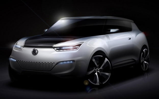SsangYong e-XIV concept front three-quarter view