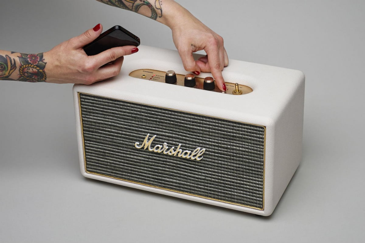 marshalls new stanmore wireless speaker blends  s style with modern convenience edit