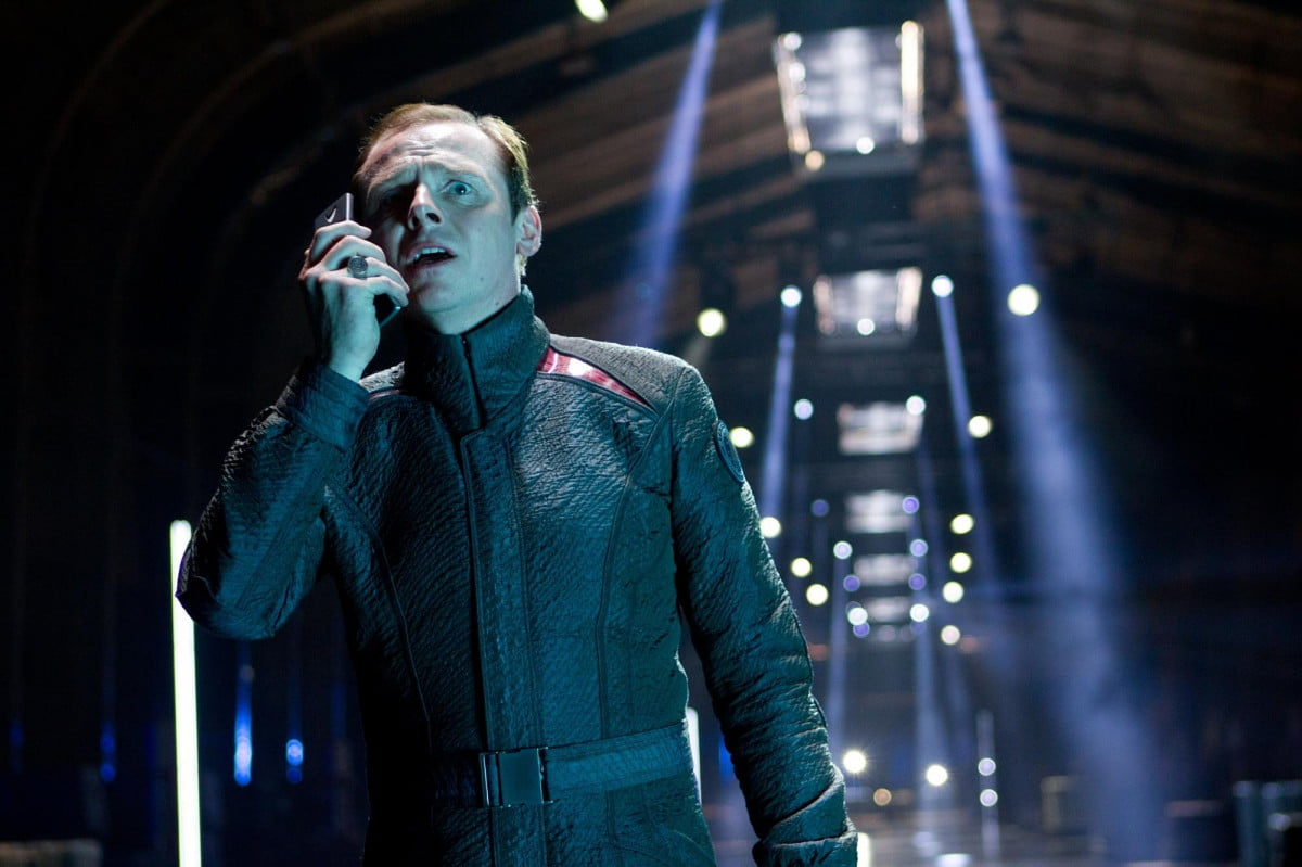 simon pegg back scotty now hes also co writing star trek  into darkness