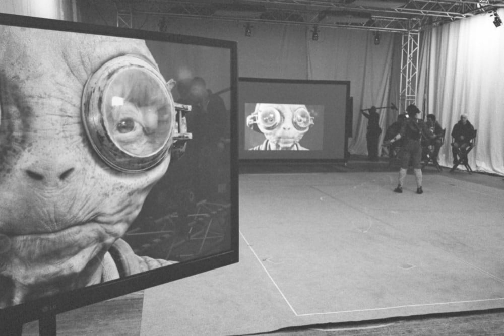 A photo from the Star Wars: Episode VIII set posted by director Rian Johnson on April 4