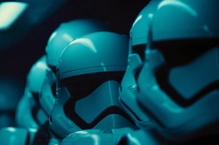 Leaked photos suggested a change to the look of Stormtrooper helmets, and here's confirmation that those photos were accurate.