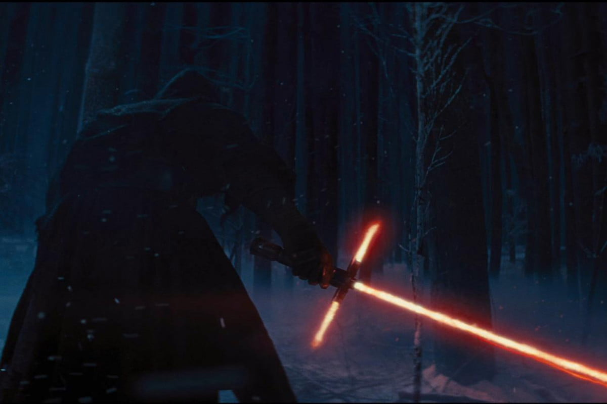 watch stephen colbert slice star wars lightsaber controversy force awakens teaser