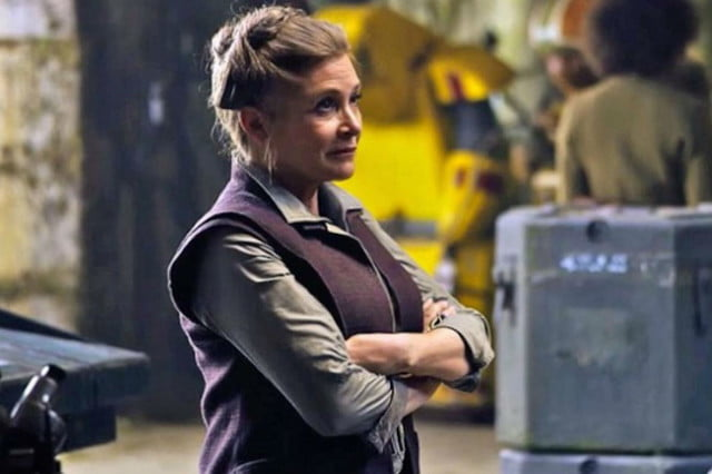 star wars the force awakens leia carrie fisher