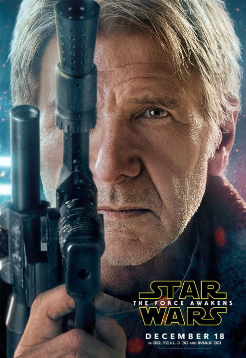 new star wars the force awakens posters han