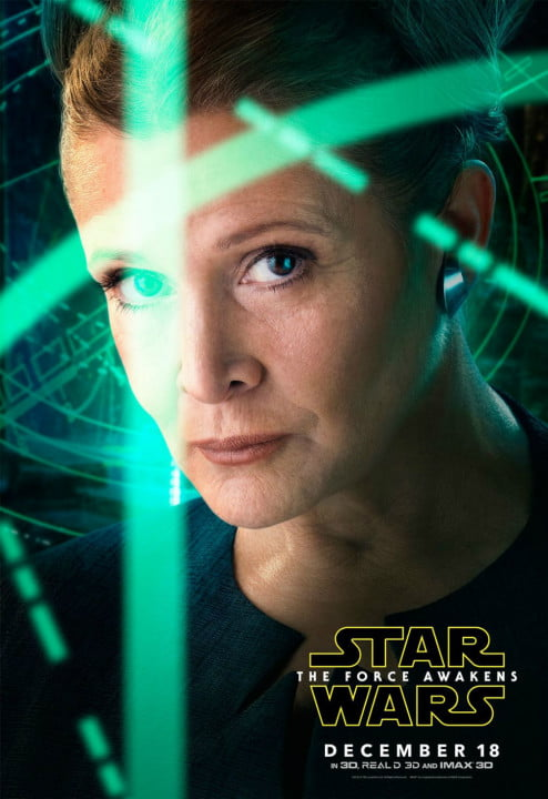 new star wars the force awakens posters leia
