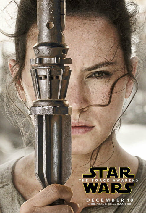 new star wars the force awakens posters rey