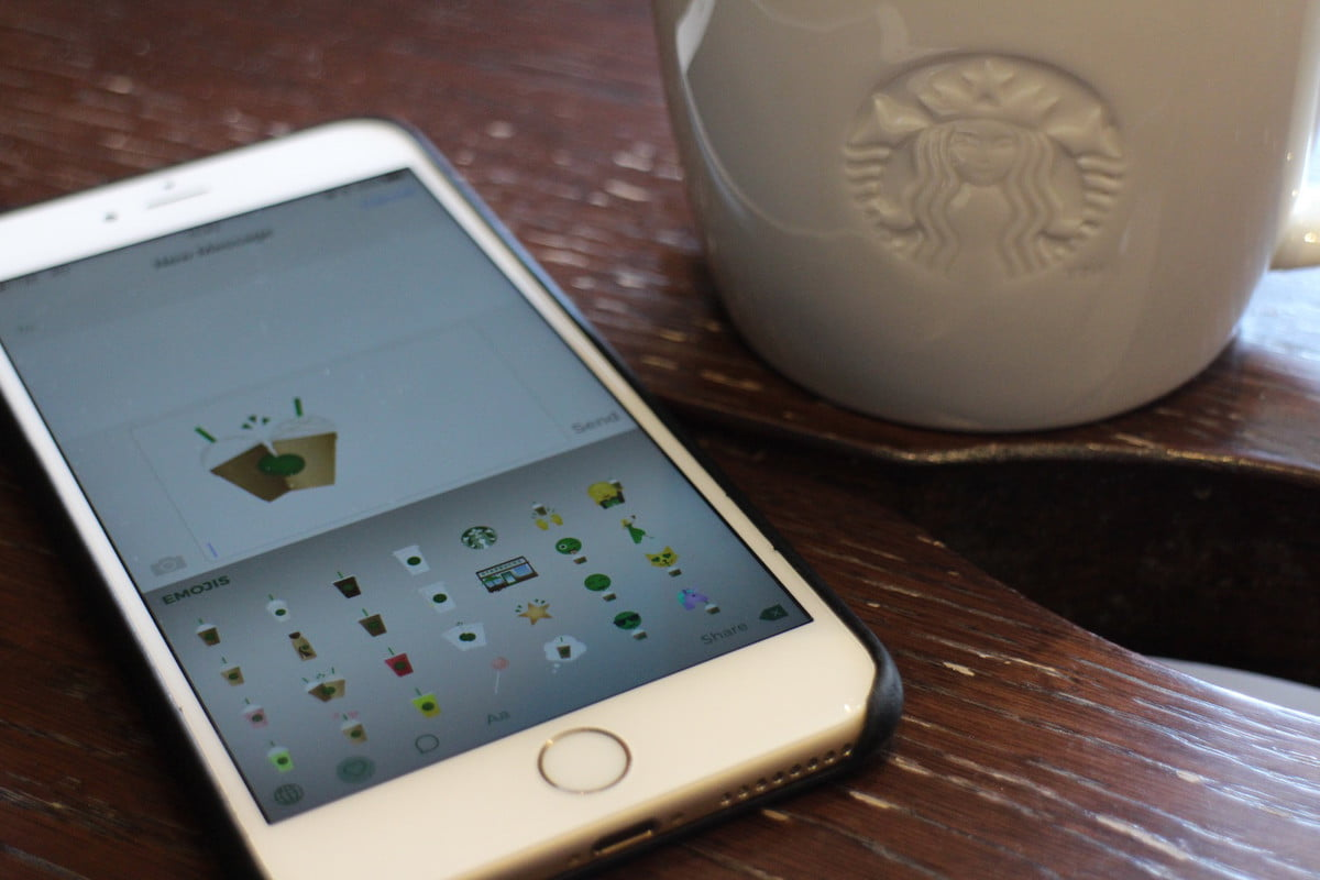 starbucks emoji keyboard app news