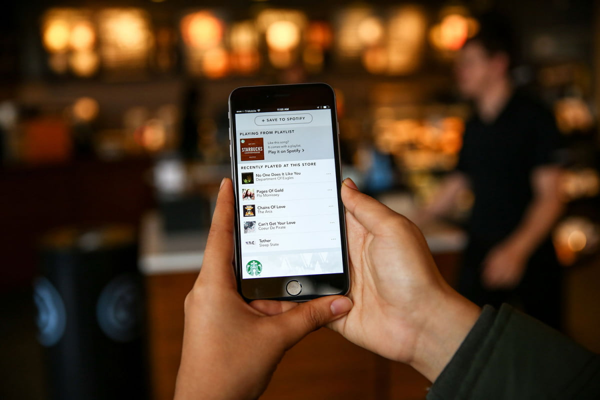 spotify starbucks new digital music experience arrives