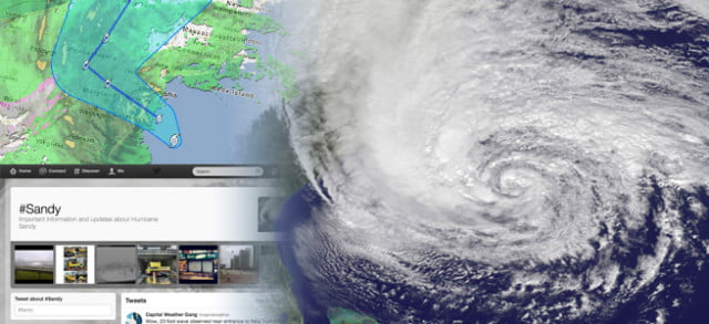 twitter proves accurate for hurricane mappyinf state of the web sandy fl