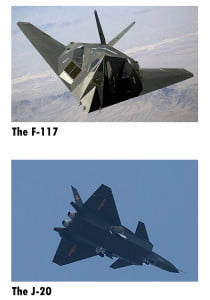 stealth fighters