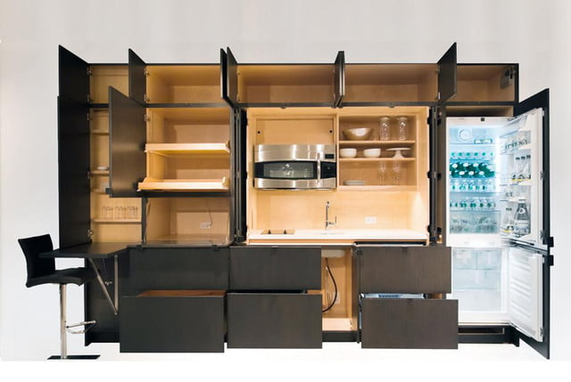space saving furniture for small rooms stealth kitchen