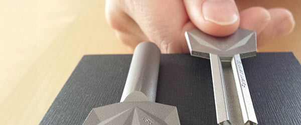 3D printed from titanium, Stealth Keys are nearly impossible to duplicate