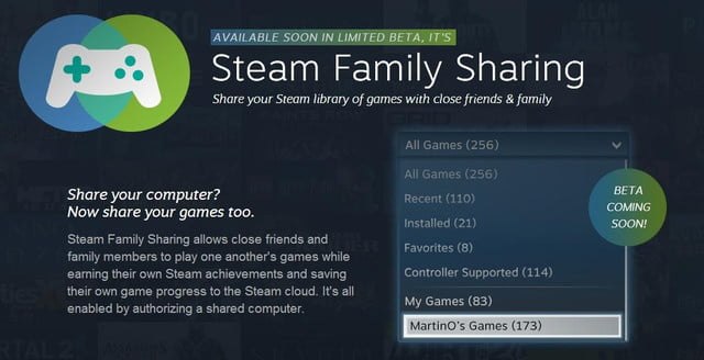 steam introduces something pc fans havent seen for decades the ability to share games