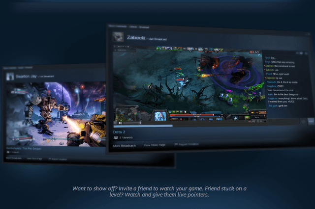valve stares twitch launch steam broadcasting
