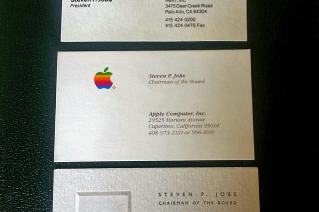charity auction gives you the chance to own steve jobs business cards
