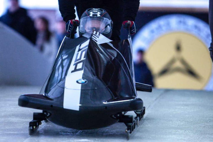 Steven Holcomb and Justin Olsen test BMWs second two_man bobsled prototype