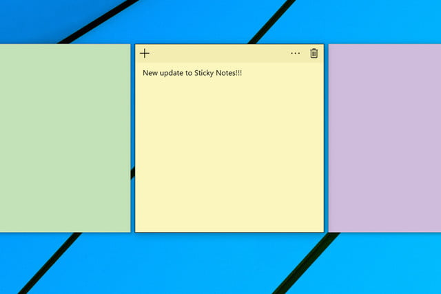 windows  sticky notes app bug fixes update