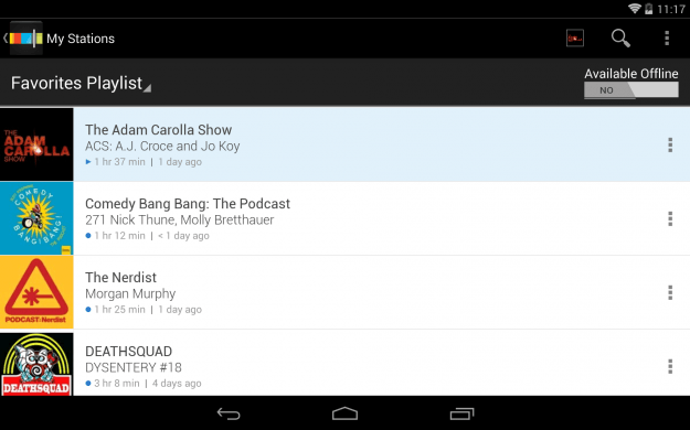 Stitcher_Android_tablet_app_screenshot