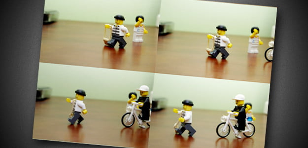 Stop motion lego animation