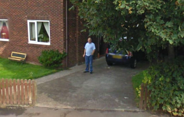 husband who said he quit smoking outed by street view smoker