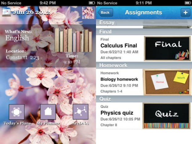 student ta screenshot ios ipod touch iphone app school planner productivity