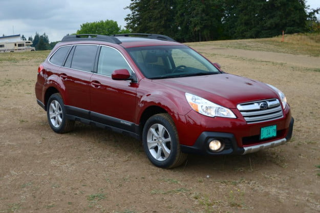subaru outback front right angle SUV