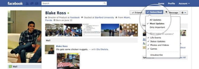 subscribed facebook subscribe button screen shot