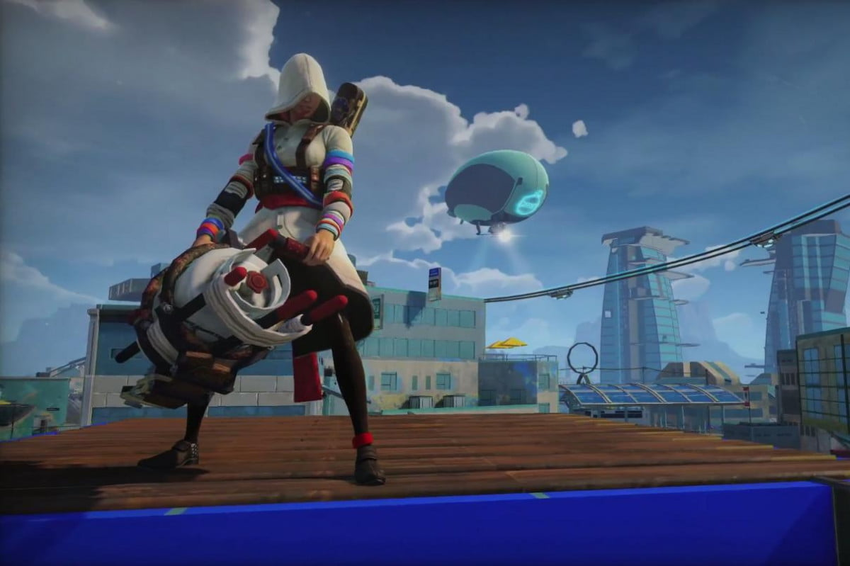 sunset overdrive lets play female assassin whoever else want