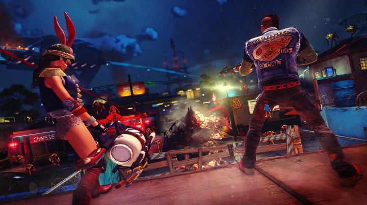 sunset overdrive e  hands on preview chaos squad herker