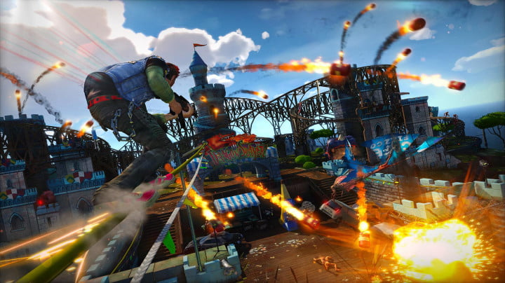 sunset overdrive e  hands on preview amusement