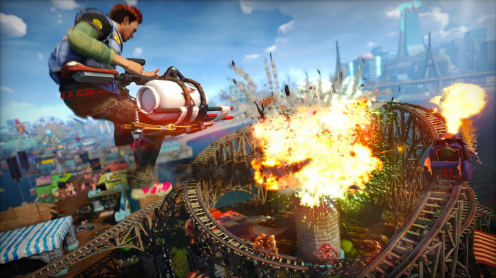 sunset overdrive e  hands on preview propain launcher